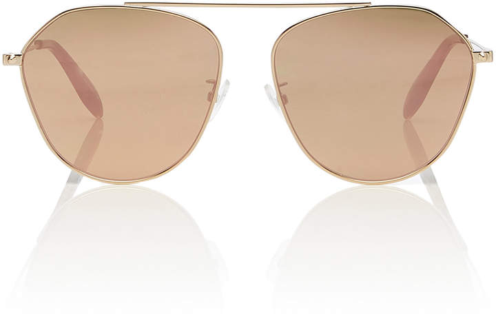 85d4f7c903 Gold Mirror Aviator Sunglasses - ShopStyle