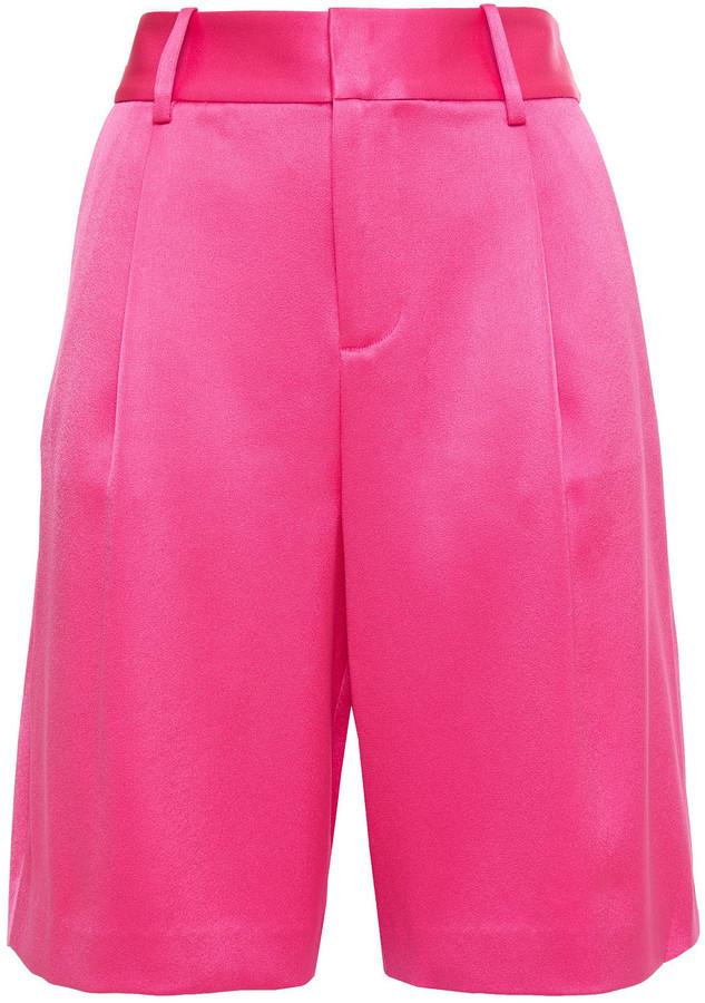 Alice + Olivia Eric Satin-crepe Shorts
