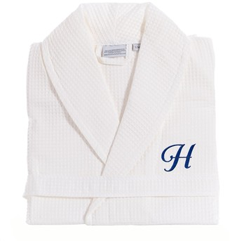 Linum Home Textiles Turkish Cotton Personalized Waffle Weave Bathrobe