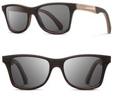 Shwood 'Canby' 55mm Wood & Horn Sunglasses