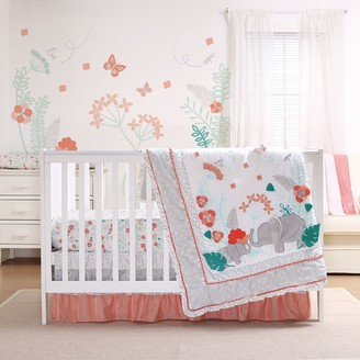 The Peanut Shell Safari Love 3-pc. Crib Bedding Set