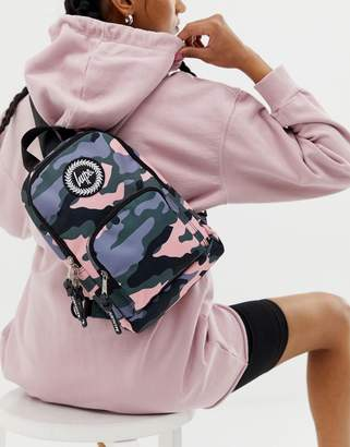 Hype one shoulder strap backpack in camo-Multi