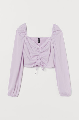 H&M Drawstring-front Top