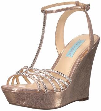 Betsey Johnson Blue Women's SB-Ember Wedge Sandal