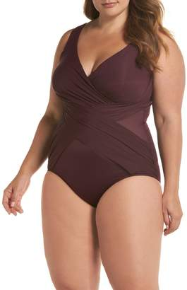 Miraclesuit Illusionist Crossover One-Piece Swimsuit (Plus Size)