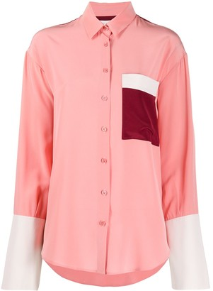 Chinti and Parker Colour-Block Contrast Shirt