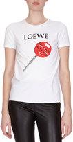 Loewe Short-Sleeve Lollipop Logo Tee, White