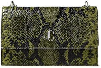 Jimmy Choo Bohemia snakeskin-print clutch bag