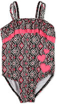 Penelope Mack 1-Pc. Printed Hearts Swimsuit, Toddler & Little Girls (2T-6X)