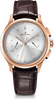 Zenith 18.2270.4069/01.C498 El Primero Elite rose gold and alligator leather watch