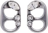 Marc Jacobs Silver Soda Lid Earrings