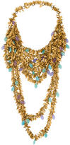 Erickson Beamon Multistrand Leaf Necklace