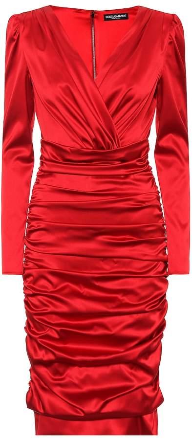 Dolce & Gabbana Stretch silk midi dress