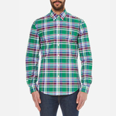 Polo Ralph Lauren Men's Long Sleeved Shirt Green/Wine