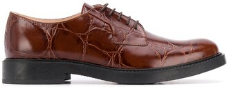Tod's Crocodile-Effect Oxford Shoes