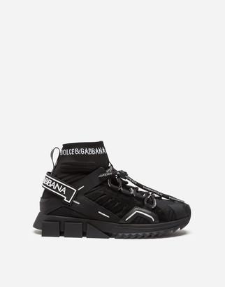 Dolce & Gabbana Sorrento High-Top Trekking Sneakers In Mixed Materials