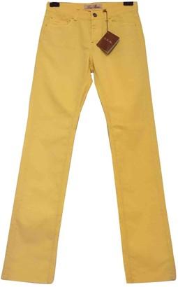 Loro Piana Yellow Cotton Trousers