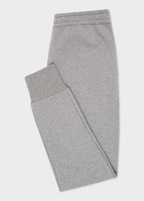 Paul Smith Women's Grey Marl Zebra Logo Organic-Cotton Sweatpants