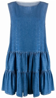 MM6 MAISON MARGIELA Ruffled Denim Dress