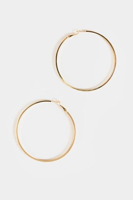 francesca's Evelyn Textured XL Hoops - Gold