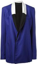 Haider Ackermann contrast shawl collar blazer - women - Silk/Cotton/Acetate/Viscose - 38
