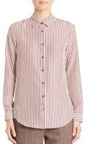 Max Mara Fedora Silk Striped Shirt