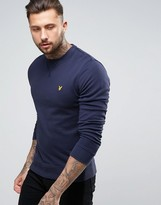 Lyle & Scott Crew Sweatshirt Eagle Logo in Navy