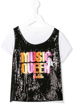 John Galliano sequin top - kids - Polyester/Spandex/Elastane/Viscose - 4 yrs