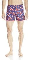Parke & Ronen Men's 4 Inch Mykonos Printed Swim Trunk