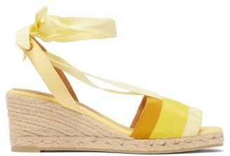 Castaner Delia 60 Grosgrain And Canvas Platform Wedges - Womens - Yellow