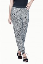 Select Fashion Fashion Womens Grey Mono Ethnic Jersey Soft Trouser - size 6