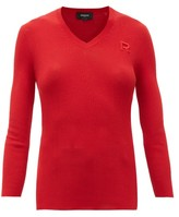 Rochas Ribbed-knit Cotton Sweater - Womens - Red