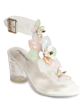 Jeffrey Campbell Viola - Clear Jewelled Sandal