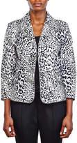 Berek Studio Women's Blazers Multi - Black & White Leopard Crop Blazer - Women