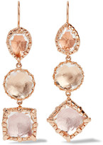 Larkspur & Hawk - Sadie Rose Gold-dipped Quartz Earrings - one size
