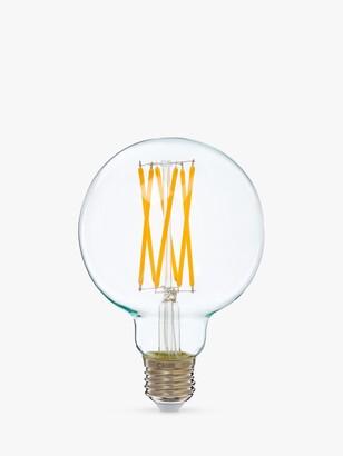 Calex 4W ES LED G95 Globe Bulb, Clear, Dimmable