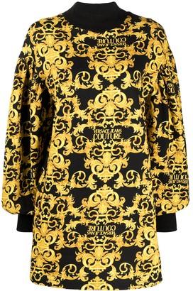 Versace Jeans Couture Logo Baroque-print shift dress