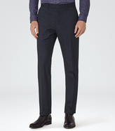 Reiss Plant MICRO HERRINGBONE TROUSERS