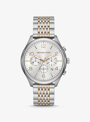 Michael Kors Oversized Merrick Two-Tone Watch
