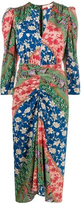 Veronica Beard Mary contrast floral pattern dress