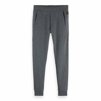 Scotch & Soda Men's Clean Sweat Pants with Zip Pockets Trouser