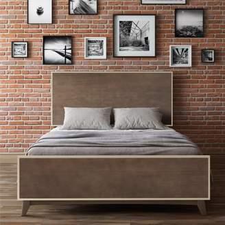 Mid-Century MODERN Novogratz Otis Queen Bed, Dark Walnut
