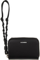 Jil Sander Black Small Zip-Around Wallet