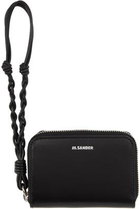 Jil Sander Black Small Zip-Around Wallet