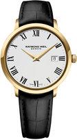 Raymond Weil Men's Swiss Toccata Black Leather Strap Watch 39mm 5488-PC-00300