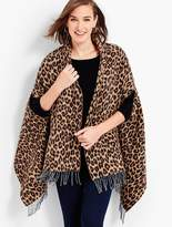 Talbots Side-Slit Animal-Print Wrap