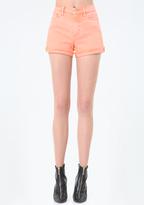 Bebe Colorful Destroyed Shorts