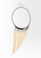 Bebe Colorblock Collar Fringe Necklace-ONLINE EXCLUSIVE