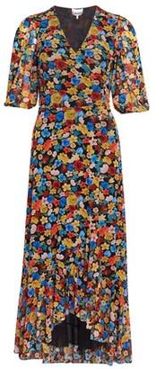 Ganni Printed mesh dress