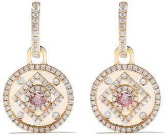 Kiki McDonough 18kt yellow gold Jemima lavender amethyst and diamond detail earrings